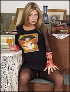 Stockinged Donna Vive Telecamera
